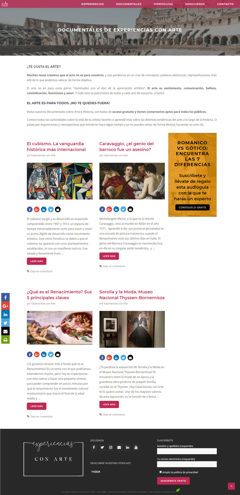 Página web blog profesional